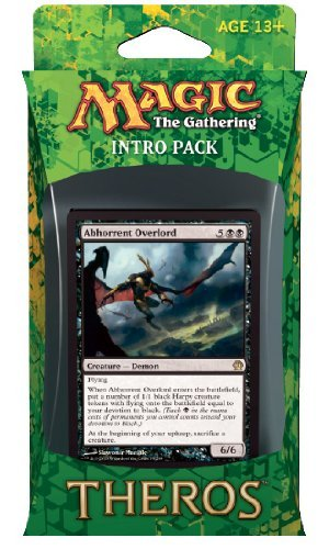 Magic The Gathering (MTG Theros Intro Pack - Devotion to Darkness Theme Deck (Includes 2 Booster Packs) Black (Abhorrent Overlord)