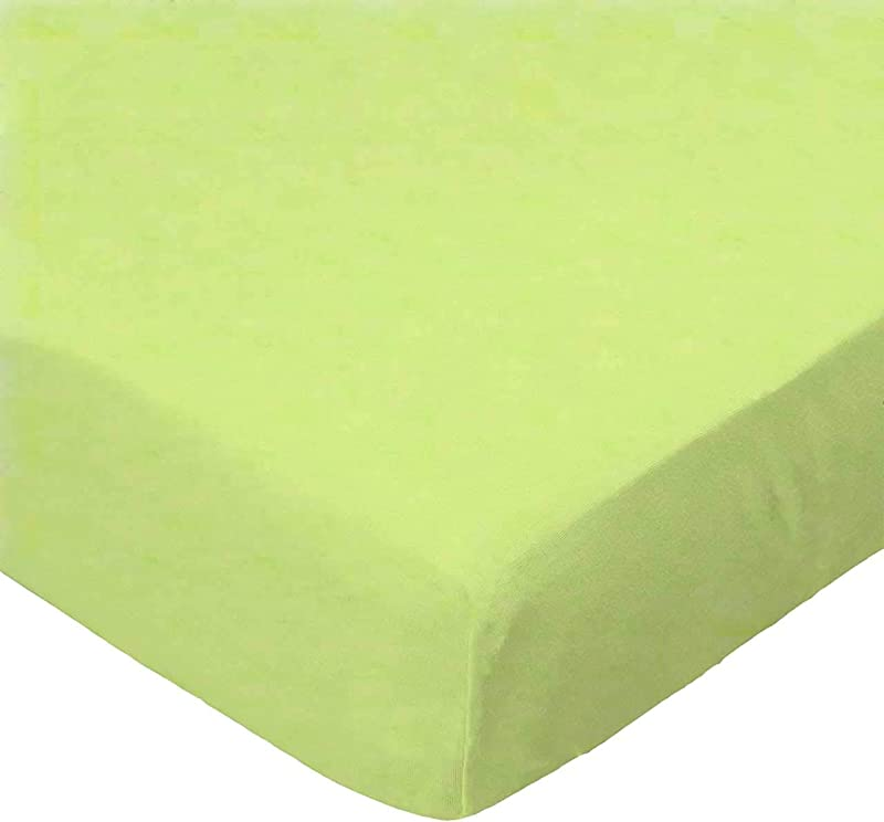 SheetWorld Fitted Pack N Play Graco Square Playard Sheet Flannel Lime Made In USA