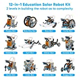 Sillbird STEM 12-in-1 Education Solar Robot Toys-190 Pieces DIY Building Science Experiment Kit for kids gifts for boys girls Aged 8-10+,Solar Powered by the Sun