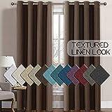 H.VERSAILTEX Linen Curtains Room Darkening Light Blocking Thermal Insulated Heavy Weight Textured...
