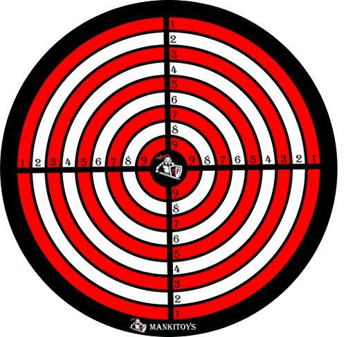 Mankitoys Zielscheibe für Saugnapf Pfeile Classic Kinder 8003
