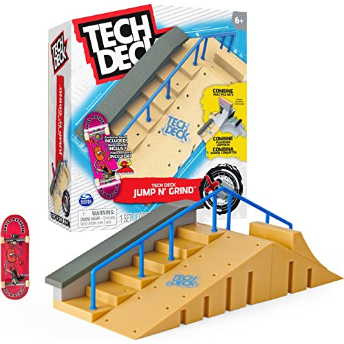 Tech Deck 6061840 TED ACS XCnctPrkCrt GML Jump N' Grind X-Connect Park Creator, Customisable and Buildable Ramp Set with Exclusive Fingerboard, Kids' Toy for Ages 6 and up