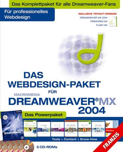 Das Webdesign-Paket für Macromedia Dreamweaver MX 2004 [5 CD-ROMs]