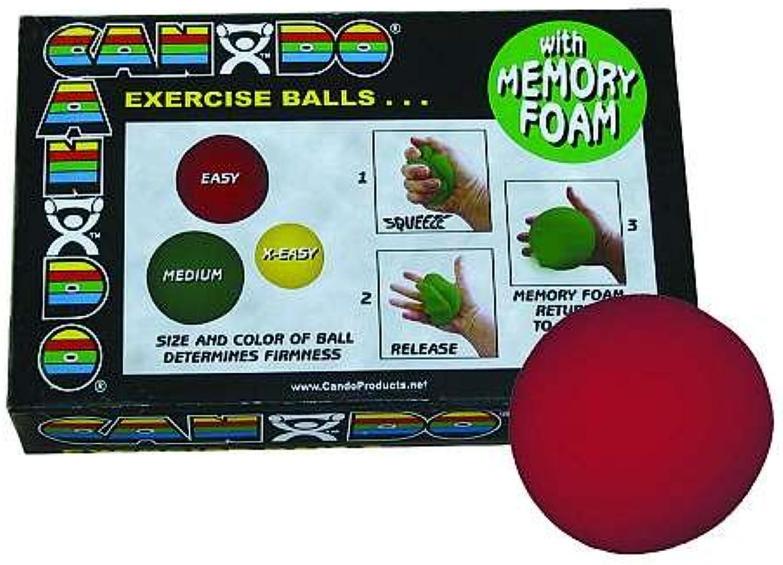 Cando 10–0777–12Memory Foam Ball Trainingsgert, 7,6cm Durchmesser, Easy, rot