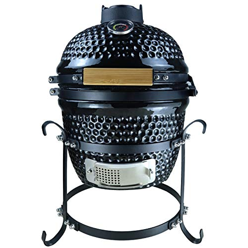 Outsunny Ceramic Kamado BBQ Grill Smoker Oven Charcoal BBQ Japanese Egg Barbecue