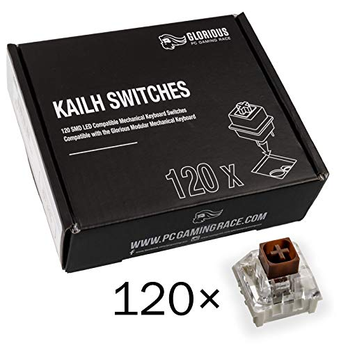 Glorious PC Gaming Race Kailh Box Brown Switches für GMMK Tastaturen - 120 Stück