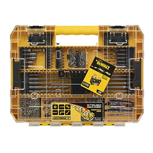 DeWalt DT70763-QZ Toughcase 85 Piece Set Concrete and Metal Drill Bits and Screw Bits for Drills and Screwdrivers