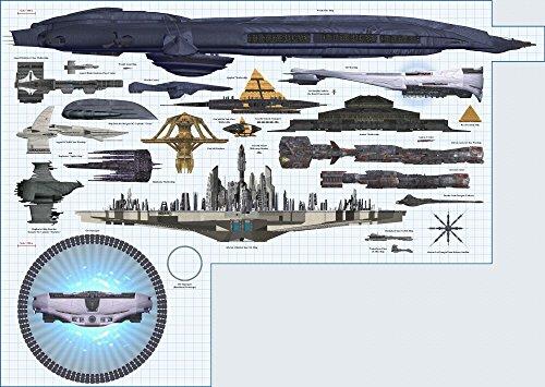 Der Museum Steckdose Charts von–Stargate Schiffe B–A3Poster Print
