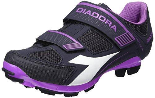 Diadora X PHANTOM II W - Zapatillas de ciclismo para Mujer, color multicolor (dk smoke/white/vilet orchid iris6040), talla 43 EU