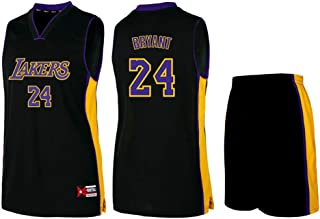 # 24 Kobe Bryant Los Angeles Lakers – Camiseta unisex sin mangas para baloncesto – Camiseta de entrenamiento para niños – Camiseta de baloncesto con bordado – 5 XL