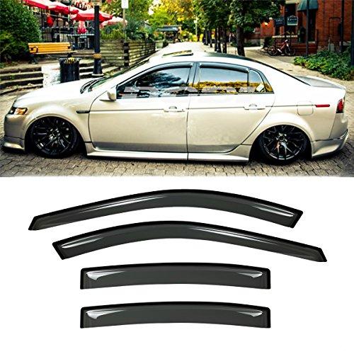 Gevog 4-Piece Side Window Deflector Original Window Visors for 2004-2008 Acura TL (Not Fit Early 2004 Model) Sun Rain Guard Ventvisor