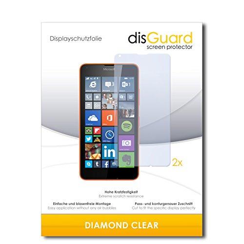 disGuard 2 x Bildschirmschutzfolie Microsoft Lumia 640 LTE Schutzfolie Folie DiamondClear unsichtbar