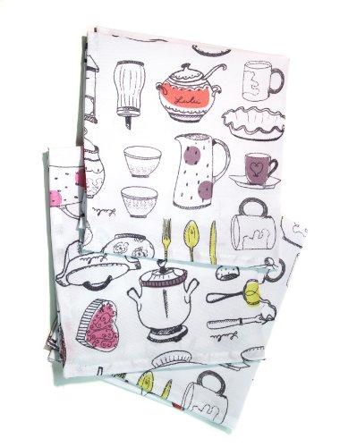 lulu castagnette 3 serviettes de table 40x40 cm lulu gourmandises