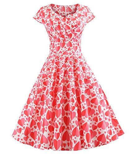 Vestido Mujer Corto - Elegante para Ceremonia y Eventos, Novia o Dama de Honor - para Fiesta Discoteca Moda Baile - L - Model U
