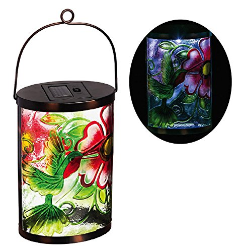 New Creative Hummingbird Garden Friends Hanging Solar Lantern