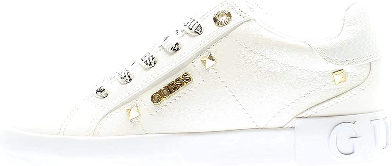 Schuhe Guess Frau Sportschuhe Hoch Leksan 4G Logo Peony Weiß FL8LEKFAL12