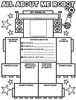 Scholastic All About Me Robot Graphic Organizer Poster, Pack of 30, 2200 mAh / 1 V - 092053