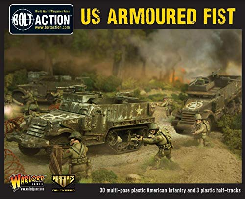 Bolt Action Miniatures - Warlord Games US Armoured Fist Military Action Figures - WW2 Model Miniatures and World War II Games by Wargames Delivered