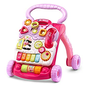 VTech Sit-to-Stand Learning Walker  Frustration Free Packaging  Pink