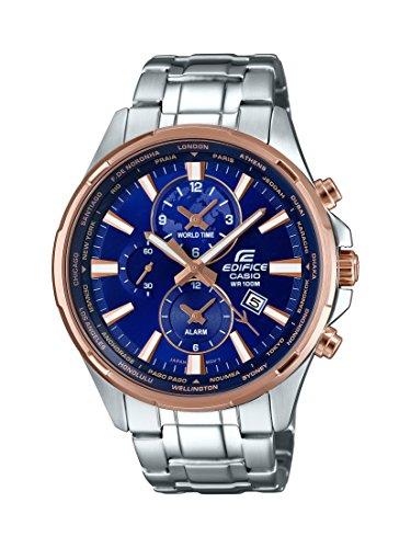 Casio Edifice EFR-304PG-2AVUDF reloj analógico de cuarzo de acero inoxidable de 3 manecillas