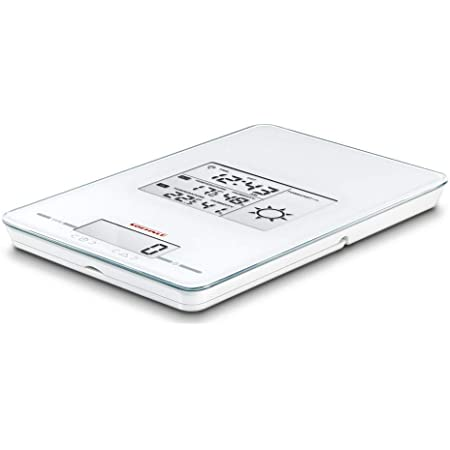 Soehnle 66223 Balance de Cuisine, Verre, Blanc, 26 cm