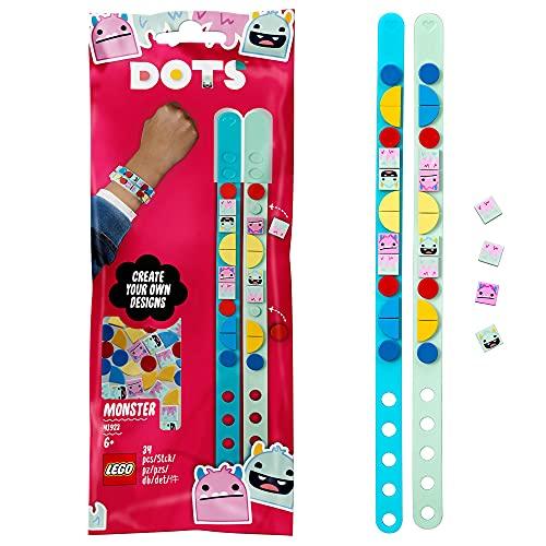 LEGO DOTS Braccialetti Mostro, Set Bigiotteria Fai da Te, Idea Regalo, Kit Artistici per Bambini, 41923