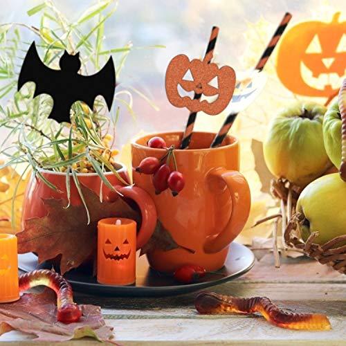 WEKON 36 cannucce a spirale a tema Halloween a tema zucca Ghost Skeleton Bat Spider pratiche Chic Stoviglie per Halloween, feste e compleanni