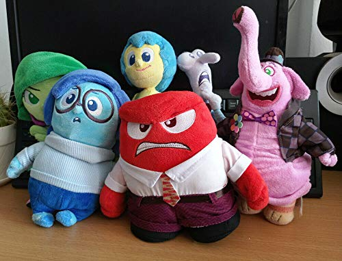 zcm Giocattolo Peluche 6pcs Inside out Gioia Rabbia Disgusto Bing Bong Fear Sadness Peluche