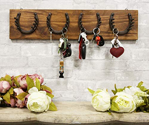 Rustic Western Horse Hoof Horseshoes and Nails Coat Key Hat Leash Wall Hooks - Favorite Decor Store
