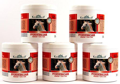 Bálsamo para caballos con hierbas especiales cada uno 500 ml crema calentadora extra fuerte Unguento (2 unidades) 768