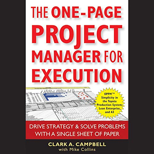 The One-Page Project Manager for Execution  By  cover art