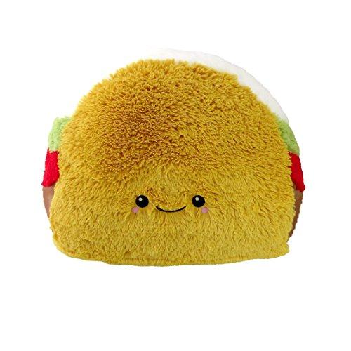 Squishable Comfort Food Taco Plush, Yellow, 15'