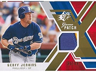 Geoff Jenkins Unsigned Two-Color Jersey Patch Card