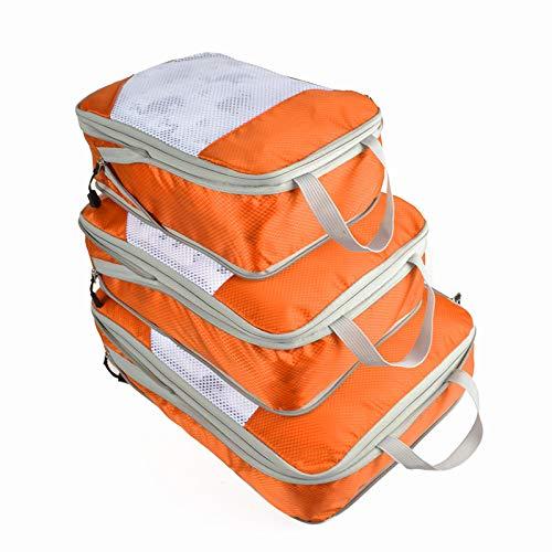 Travel Compression Storage Bag Three-Piece Suitcase Organizer Bag Complete Waterproof Clothes Storage Bag O G