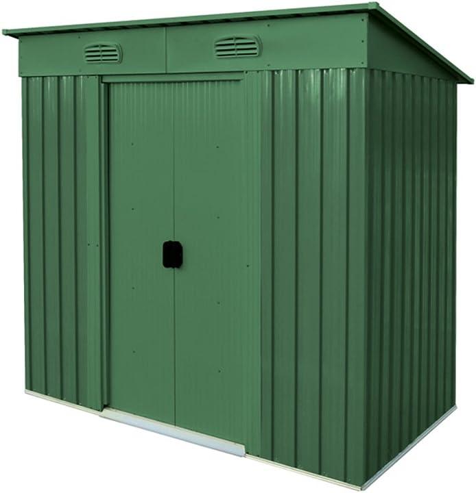 Casetta in metallo box da giardino a una falda, 194x121 altezza 181 cm verdelook maisonette B00PW5L67O