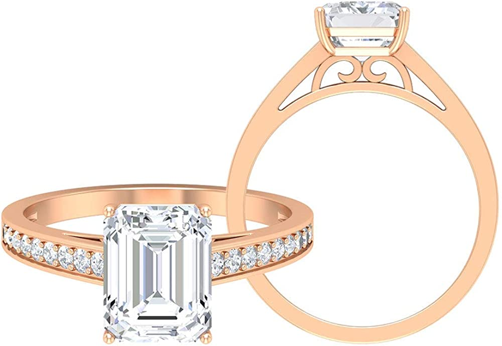 2.26 latest CT D-VSSI Virginia Beach Mall Moissanite Ring Solitaire Octag Engagement