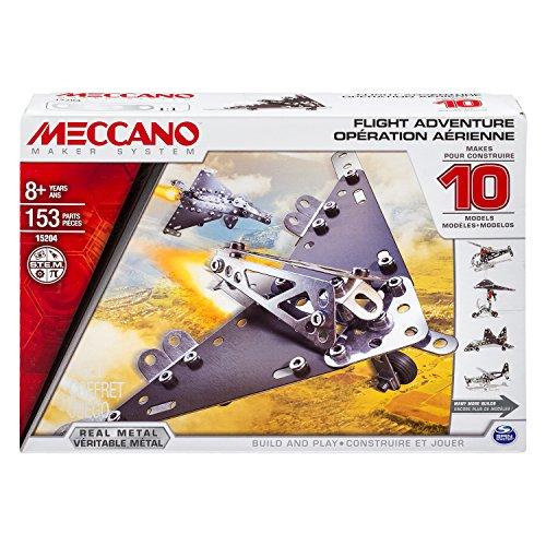 MECCANO 6023643 - Confezione per Costruire 10 Modelli di Elicotteri, Pezzi in Metallo