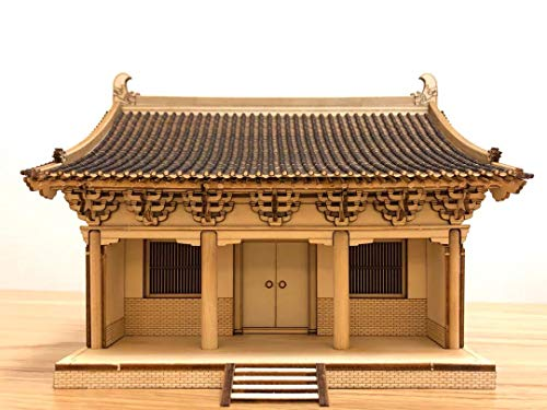 Old Cat Model 7503 1/75 The Main Hall of Buer Temple 3D Wooden Puzzle Chinese Historic Architecture DIY Model kit, lerning Toy for Adults and Children Over 14 Years Old