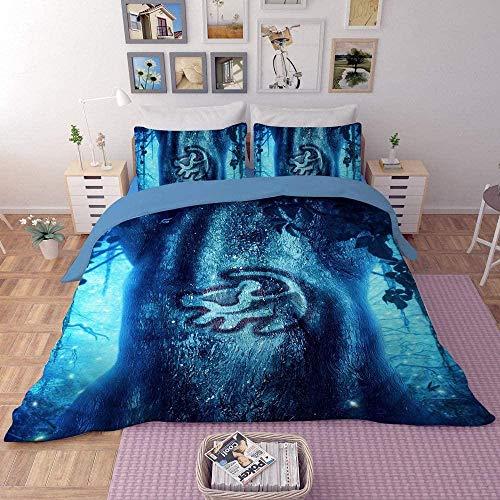 dsgsd La Ropa de Cama 3D es súper Suave y cómoda. Patrón Abstracto Azul 260x240cm Impresión Juego de Ropa de Cama Funda nórdica / Funda de edredón Sábana Fundas de Almohada Ropa de Cama Textiles para