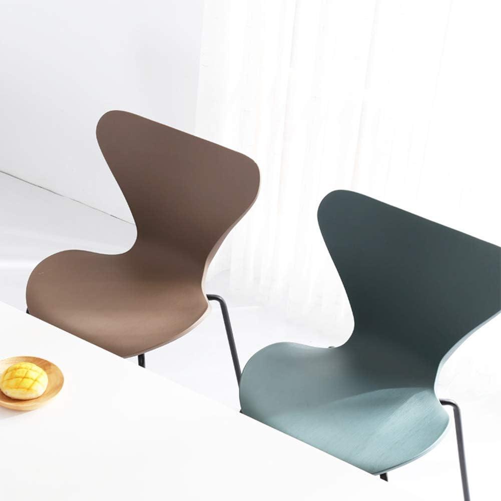 L.BAN Moderne Chaises Salle Manger Bureau Chaise Jambes Métal, Dossier Plastique PP Gray