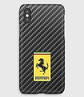 Carbon & Ferrari iPhone case 11, 11 Pro, 11 Pro Max, XS,XS Max,XR, X, 8, 8+, 7, 7+, 6S, 6, 6S+, 6+, 5C, 5, 5S, 5SE, 4S, 4,