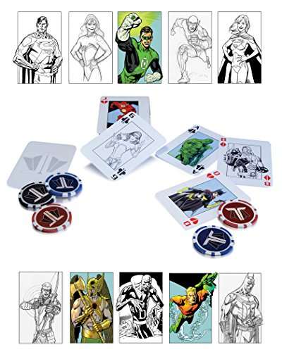 dc comics Justice League Kit de Poker débutant
