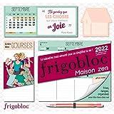 FRIGOBLOC HEBDOMADAIRE MAISON ZEN 2022 - 16 MOIS - (DE SEPT. 2021 À DÉC. 2022)
