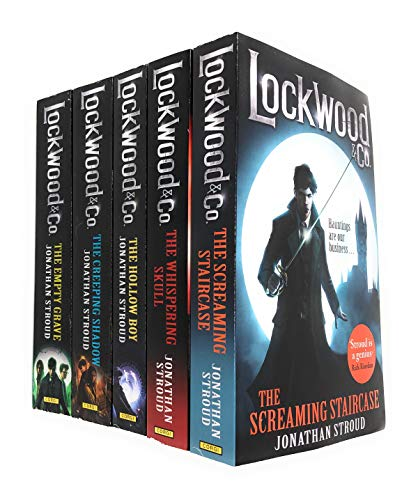 Lockwood and Co Series 5 Books Collection Set by Jonathan Stroud (The Screaming Staircase, The Whispering Skull, The Hollow Boy, The Creeping Shadow, The Empty Grave)