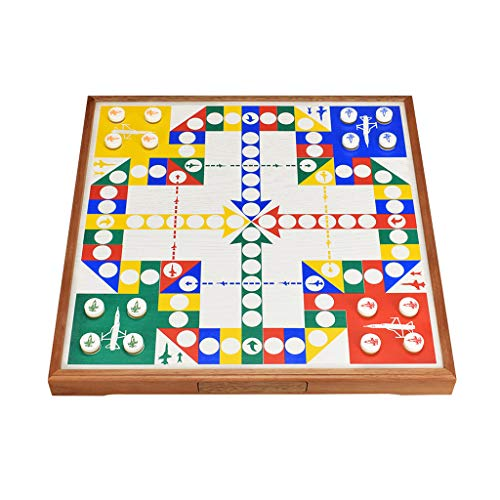 Silk Road YX Damas Juego de ajedrez Volador, Piezas de ajedrez de Cristal acrílico, cajón, niños Adultos, avión de Madera Grande, Juego de Mesa de ajedrez, Juego de Rompecabezas, Regalo de ajedrez