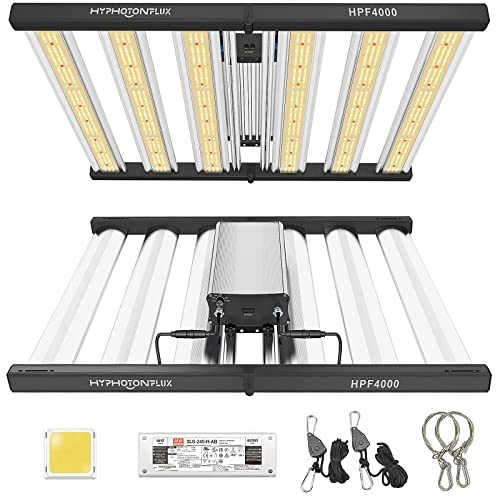 HYPHOTONFLUX HPF4000 LED Grow Lights 5x5ft with Samsung LM301B & MeanWell Driver,Full Spectrum Growing Light Plants Grow Lamp,Dimmable Daisy Chain Commercial Grow Lights for Indoor Plants 2.7μmol/J