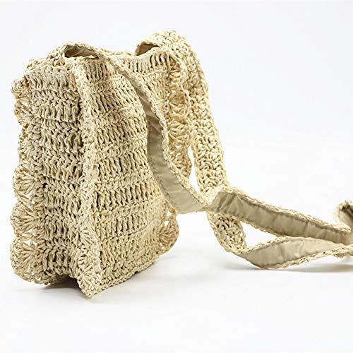 PCBDFQ Damestas nieuwe Gehaakte strozak Messenger tas kant kleine strandtas Zomer Reizen Handtassen