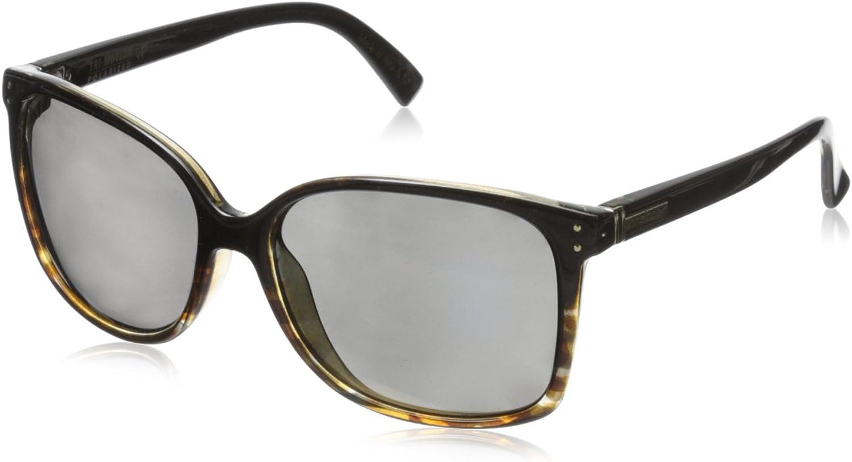 VonZipper Women's Castaway Polar Polarized Cateye Sunglasses, Black Tort Fade Gloss gold Glow Polar, 58 mm