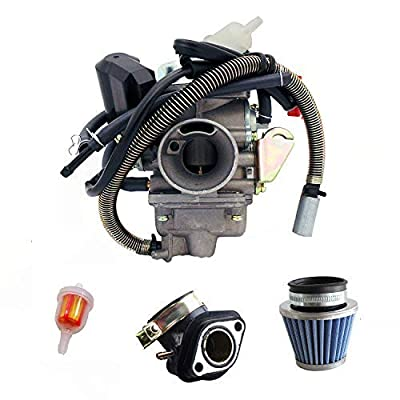 NEW GY6?(150cc) Carburetor for 150cc 125cc,152QMJ 157QMI with Air Filter Intake Manifold 4 Stroke Electric Choke Motorcycle Scooter Carburetor