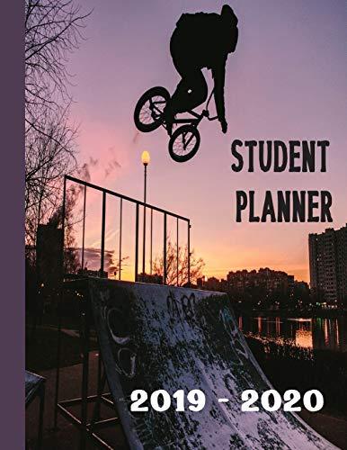 Student Planner 2019 - 2020: BMX Rider Assignment Tracker Stunt Bike Rider Homework Planning Academic Notebook